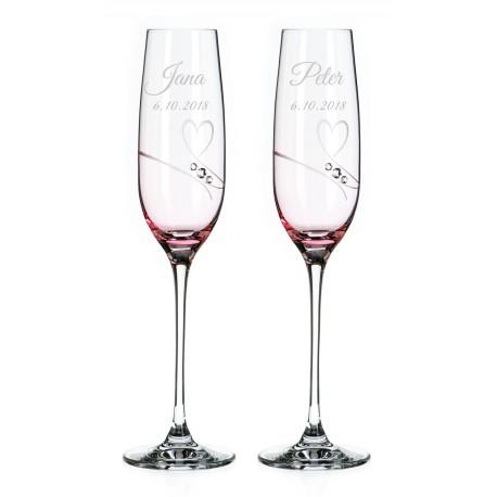 Affinity - svadobné poháre s gravírovaním - šampanské