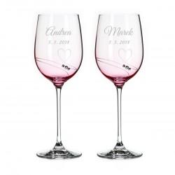 Affinity - svadobné poháre s gravírovaním - víno