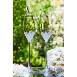 MIlano - svadobné poháre s gravírovaním - šampanské