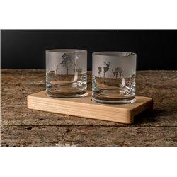 Príroda - poháre na drevenom podstavci