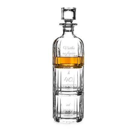 Combo darčekový set s gravírovaním - dva poháre a fľašana whisky/brandy/gin