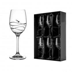Soho sada pohárov na biele víno