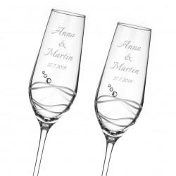 Venezia svadobné poháre na šampanské