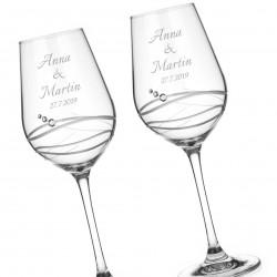 Venezia svadobné poháre na biele víno