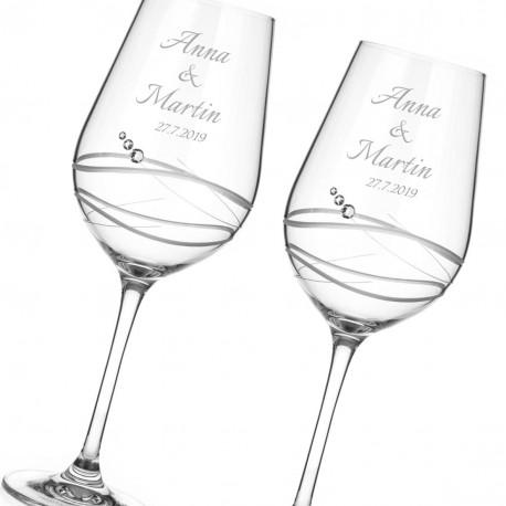 Venezia svadobné poháre na červené víno