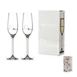 Srdcia - pár pohárov na šampanské