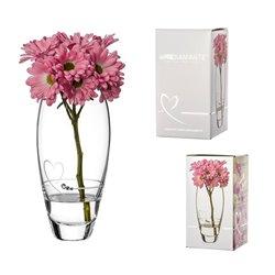 Srdcia - 18cm váza