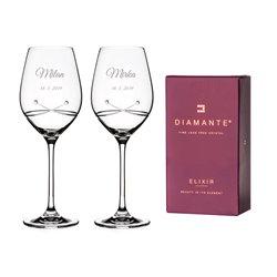 Kiss svadobné poháre na víno