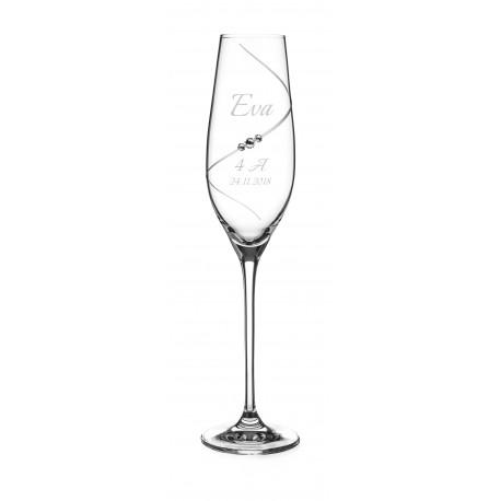 Pohár na stužkovú Silhouette so Swarovski® Elements – šampanské
