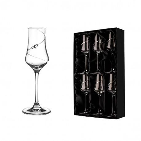 Silhouette - set 6 pohárov grappa
