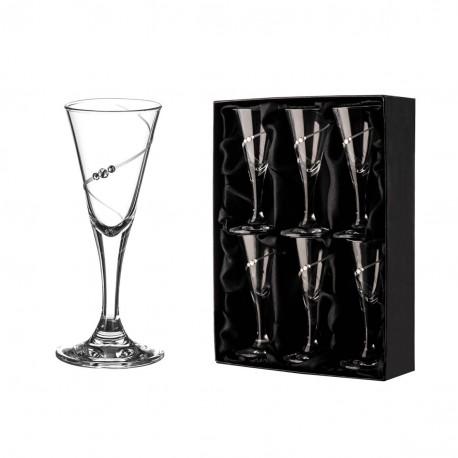 Silhouette - set 6 pohárov na likér