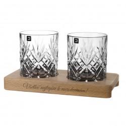 Chatsworth - gravírované poháre na drevenom podstavci - Great Vibes