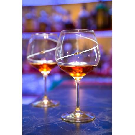 Silhouette pár extra veľkých pohárov na červené víno burgundy/gin