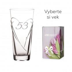 Srdcia - gravírovaná 25cm váza