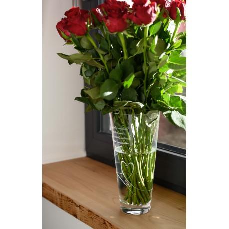 Romance 25cm váza - ku dňu matiek 12.5.2019