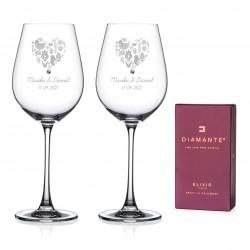 Folklór Hearts - vínové poháre s gravírovaním