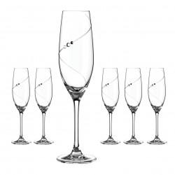 Šampaň kalichy - 6 kusov - Silhouette City