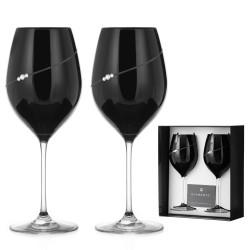 Dva Black poháre na červené víno