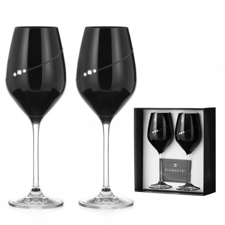 Dva Black poháre na biele a rosé víno