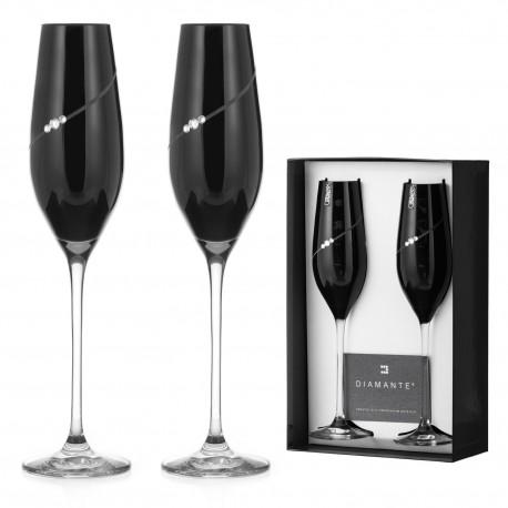 Dva Black poháre na šampanské