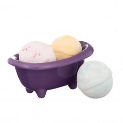 Darčekový set - Čierna keramická mini vanička a mix 3 šumivých bômb do kúpeľa