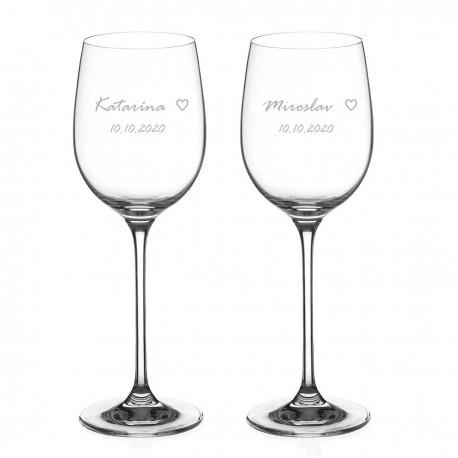 Simply Love poháre na biele víno
