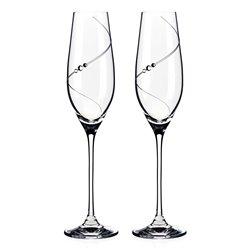 Silhouette poháre na šampanské a prosecco - 2 poháre