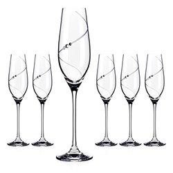 Silhouette poháre na šampanské a prosecco - 6 pohárov