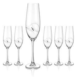 Atlantis poháre na šampanské a prosecco - sada 6 pohárov