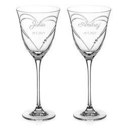 Beloved Hearts - dva svadobné poháre na víno