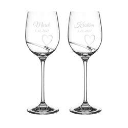 Romance - malé víno - svadobné poháre s gravírovaním