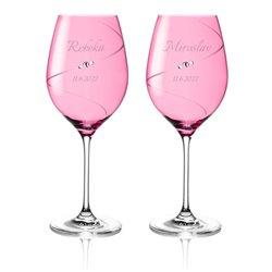 Pink Silhouette svadobné poháre na červené víno