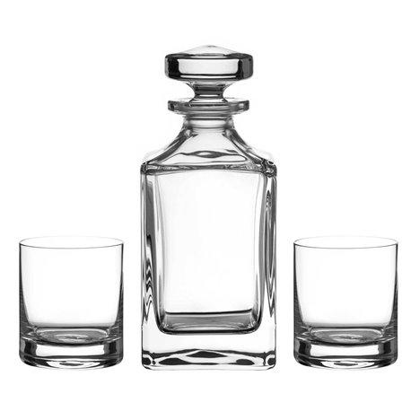 Hladký trojdielny whisky set
