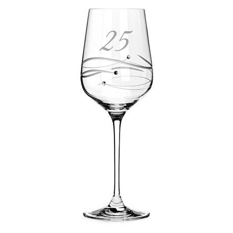 Spiral pohár na víno k 25. výročiu (strieborná svadba)