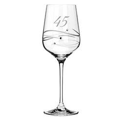 Spiral pohár na víno k 45. výročiu (zafírová svadba)
