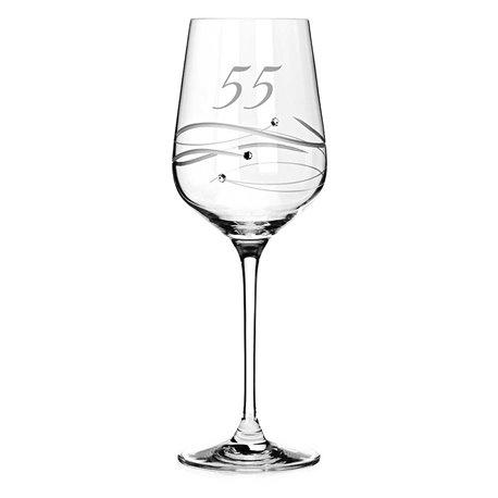 Spiral pohár na víno k 55. výročiu (smaragdová svadba)