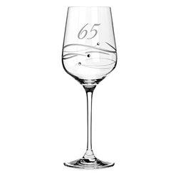 Spiral pohár na víno k 65. výročiu (kamenná svadba)