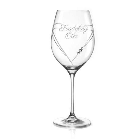 Hearts pohár na veľké víno pre svadobného otca