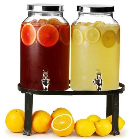 Sklenené nádoby na nápoje - s dávkovačom