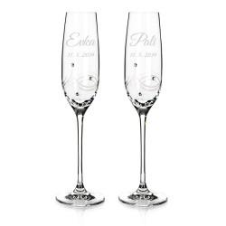 Eclipse - svadobné poháre s gravírovaním