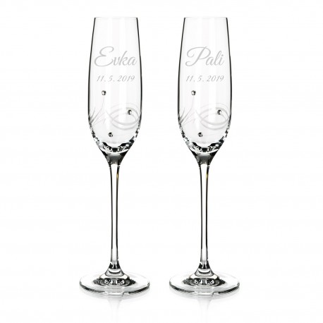 Eclipse Wedding Flutes With Personalised Engraving