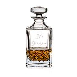 Gravírovaná whisky fľaša