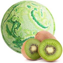Kiwi ovocie tropický raj - jumbo šumivá bomba do kúpeľa s kúskami kiwi ovocia
