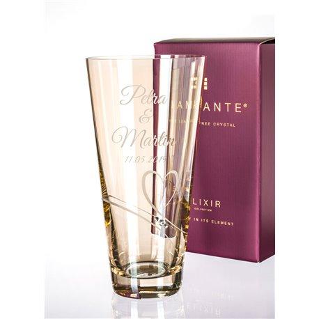 Gold Romance - 25cm váza s gravírovaním