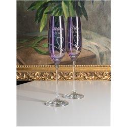 Lavender Romance - svadobné poháre s gravírovaním LIMITOVANÁ EDÍCIA