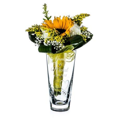Romance 20cm váza pre svadobnú kyticu